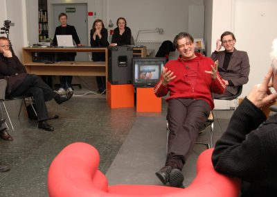 freitagsforum / Ruedi Baur und Christin Kempf auf dem Podium