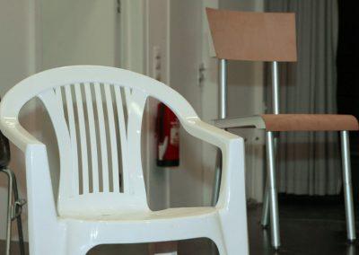 freitagsforum / Stühle mitgebracht von Martí Guixé und Achim Heine