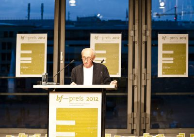 bf-preis 2012 / Thomas Wagner, keyspeaker award ceremony