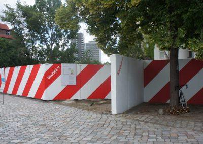 Metropolenhaus / Gestaltung Baustellen-Zaun