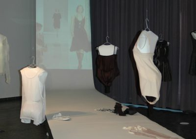 exhibition / designs and video of fashion show