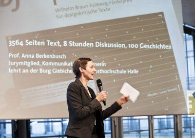 bf-preis 2012 / Moderation Cornelia Horsch, IDZ